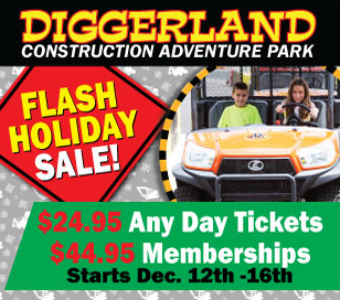 DIGGERLAND FLASH HOLIDAY SALE in Diggerland USA