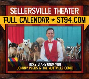 Johnny Peers and his lovable dogs are coming back to the Sellersville Theater on July 20, 2017 to tickle your funny bone with one of our most beloved family shows! These Animal Planet stars perform fun, challenging tricks led by Johnny, a Ringling Brothers Clown College graduate. Some of Johnny's dogs are rescued from shelters, like Noodles, the world's only skateboarding basset hound and Squeaky, the ladder climbing terrier. Bring the whole family out to a show that is sure to impress and delight!