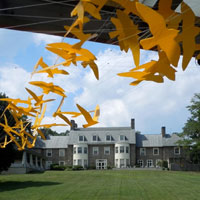 Cultivating the power of the arts - the Abington Art Center inspires individuals and strengthening community. Located on a historic 27 acre campus in Jenkintown, Pennsylvania, Abington Art Center presents exhibitions, programs and events designed to make the visual arts a part of your world. We believe art should be engaging, approachable and, above all else, fun. At Abington Art Center, you won't just observe art. You'll touch it, feel it, create it and be a part of it. Visit our Sculpture Park and galleries featuring the work of today's artists, explore making art yourself in one of our many workshops and classes or bring your family for one of our many events such as concerts on the lawn, or coffee talks with artists.