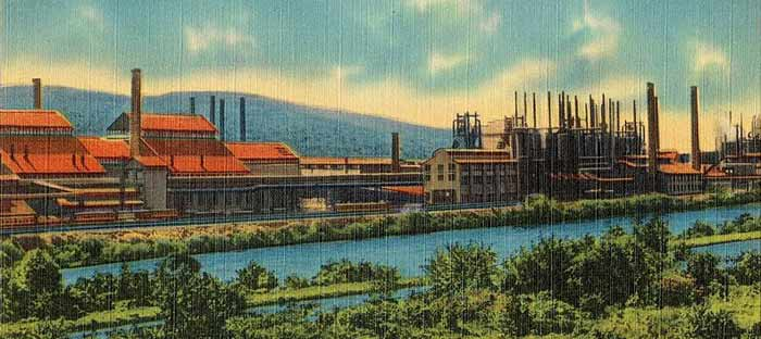 The Bethlehem Steel Stacks in the Lehigh Valley, PA